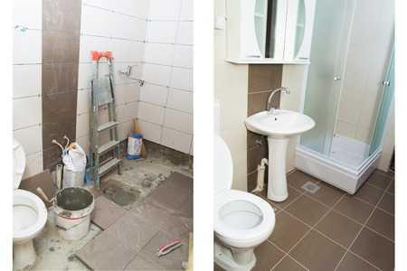 שיפוץ שירותים לפני ואחרי