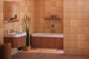 שיפוץ אמבטיה בצבע חום