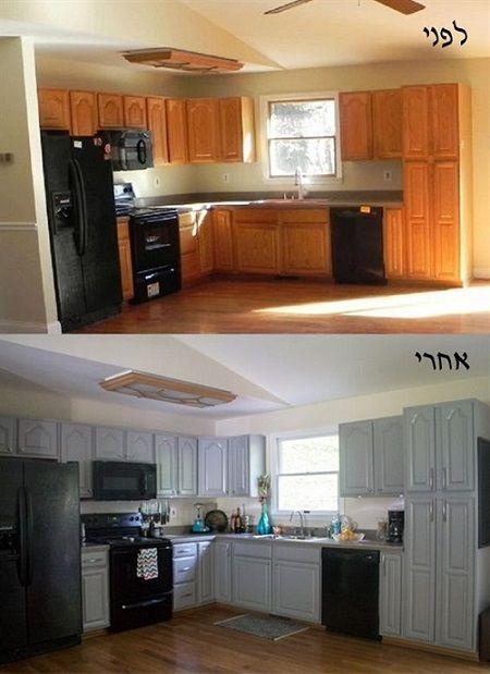 חידוש מטבח ישן לפני ואחרי