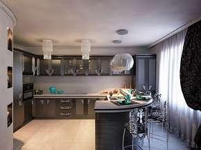 תקרה מעוצבת מגבס במטבח