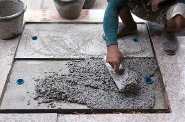 ריצוף על גבי תשתית בטון