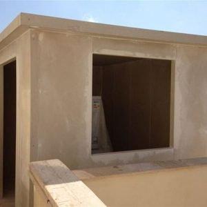 תוספת חדר בבניה קלה כולל טיח