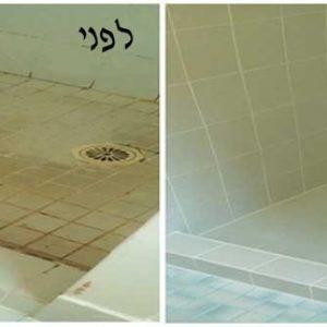 איטום ריצוף אמבטיה