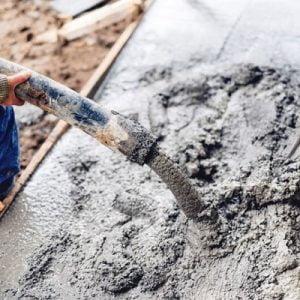 יציקת בטון על אדמה