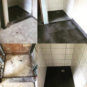 מקלחת לפני ואחרי