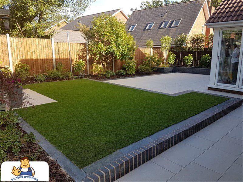 הקמת גינה ביתית כולל דשא סינטטי