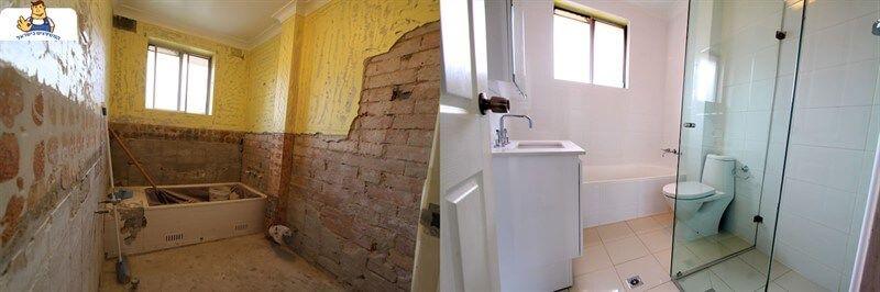 שיפוץ חדר אמבטיה לפני ואחרי באשדוד