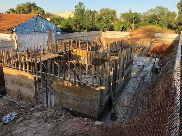 בניית מרתף כולל שלד