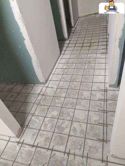 הכנת משטח לבטון מוחלק