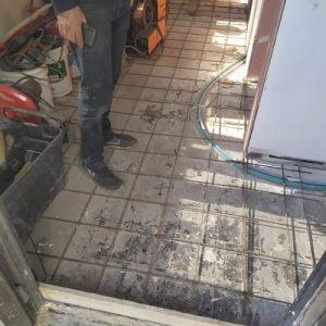 הכנת משטח בטון מוחלק