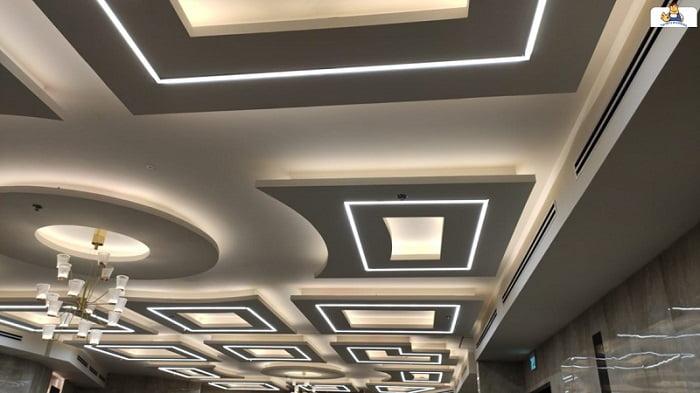 הנמכת תקרה כולל תאורה