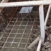 יציקות בטון על גבי רשת ברזל