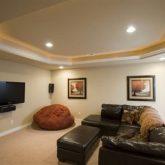עיצוב תקרת גבס בסלון עם תאורה